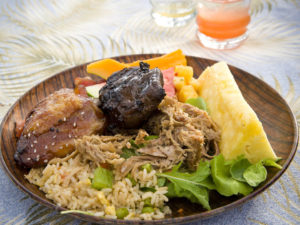 Some of the delicious foods you'll find at a traditional luau