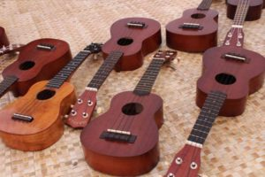 Try your hand at playing the ukulele