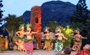 Hula plays a big part in luau entertainment
