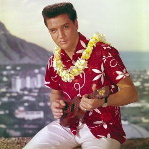 Elvis Presley in an aloha shirt