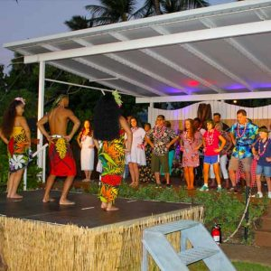 Pay attention - you might get called onstage to show off your hula skills!