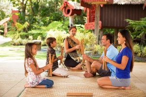 Kids love the crafting activities offered at just about every luau