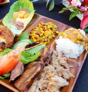 Feast on Oahu's only farm-to-table luau buffet