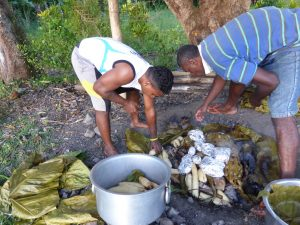 In Fiji, the underground oven is called a lovo