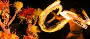 Dancing with fire at Ka Moana Luau