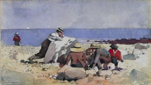 Winslow Homer painted a New England clam bake in 1873