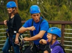 Ziplining is fun for the entire family