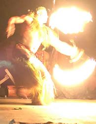 Fire knife dance
