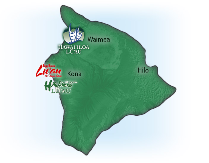 Map of Big Island Luaus