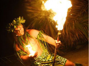 Germaine's luau fire dance