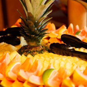 Fresh fruit makes a sweet finish to a luau feast